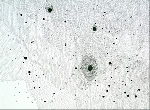 The Messier Catalogue (Proof of Concept): M32. 2007. Ink on paper. 30 x 22 in.