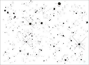 The Messier Catalogue (Proof of Concept): M6. 2007. Ink on paper. 30 x 22 in.
