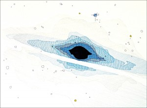 The Messier Catalogue (Proof of Concept): M104. 2007. Ink and graphite on paper. 30 x 22 in.