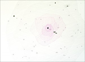 The Messier Catalogue (Proof of Concept): M87. 2007. Ink and graphite on paper. 30 x 22 in.