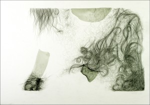 Collar. 2005. Graphite and watercolour on paper. 28 x 20.5 in.